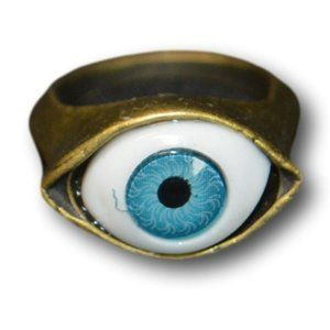 Awesome Halloween Evil Eye Sees All Brass Ring